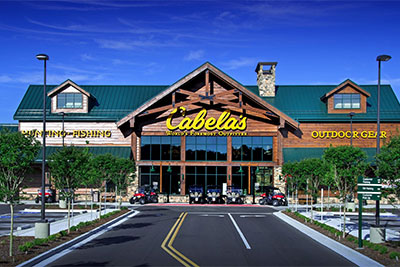 JDH Company built the roof for Cabela's in Chattanooga, Tennessee